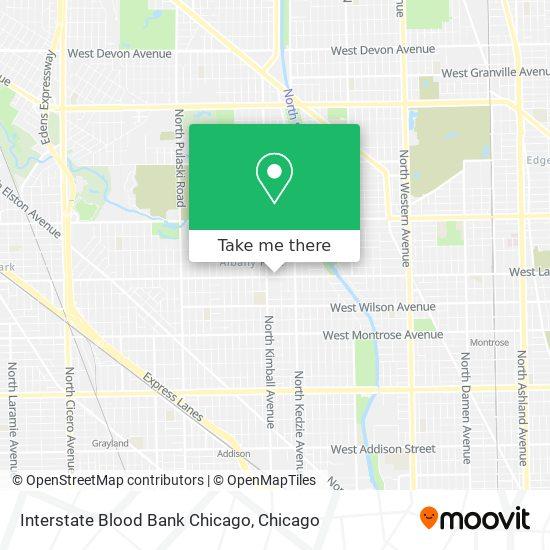Interstate Blood Bank Chicago map