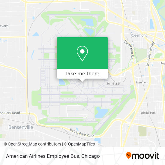 American Airlines Employee Bus map