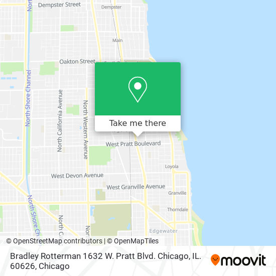 Bradley Rotterman 1632 W. Pratt Blvd. Chicago, IL. 60626 map