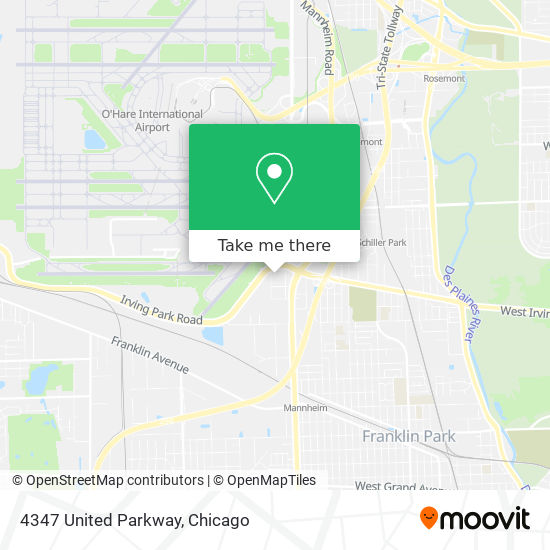 4347 United Parkway map