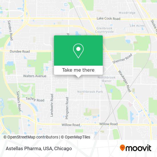 Astellas Pharma, USA map
