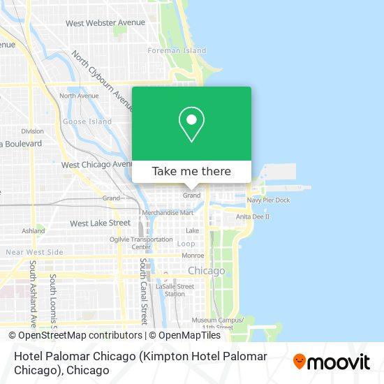 Hotel Palomar Chicago map