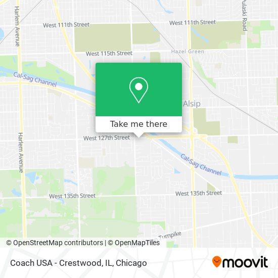 Coach USA - Crestwood, IL map