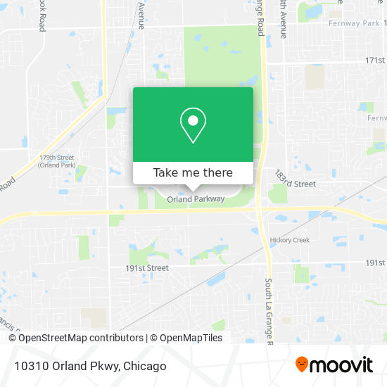 10310 Orland Pkwy map