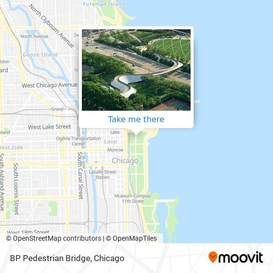BP Pedestrian Bridge map