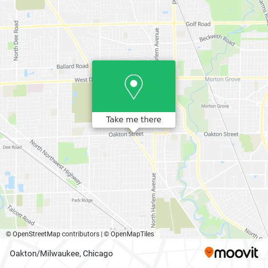 Oakton/Milwaukee map