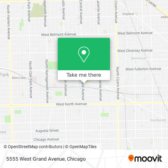 5555 West Grand Avenue map
