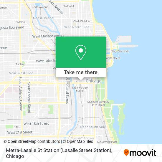 Metra-Lasalle St Station (Lasalle Street Station) map