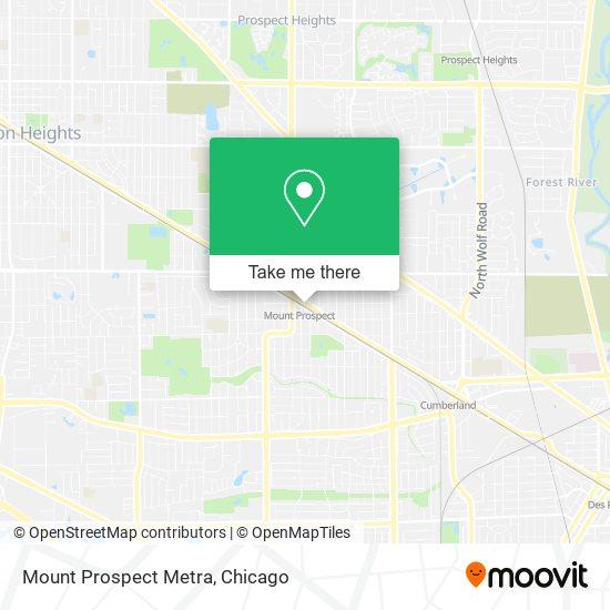 Mount Prospect Metra map