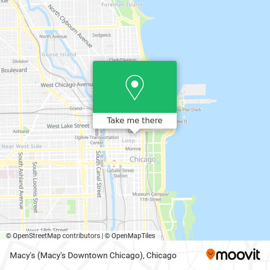 Macy's (Macy's Downtown Chicago) map