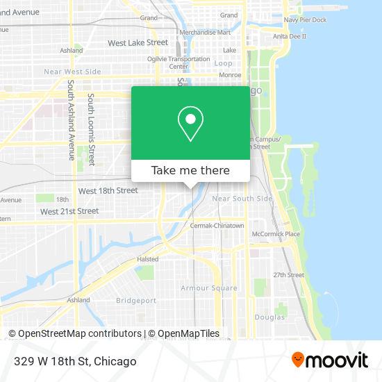 329 W 18th St map