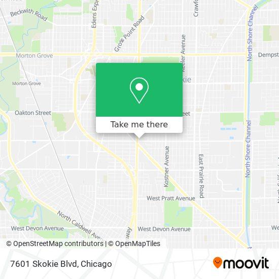 7601 Skokie Blvd map