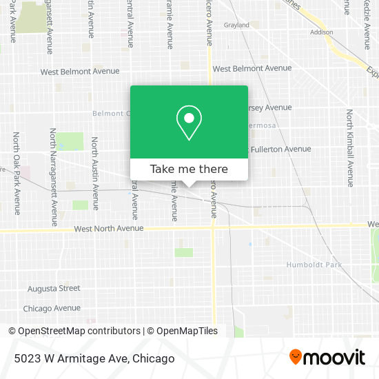 5023 W Armitage Ave map