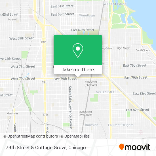 79th Street & Cottage Grove map
