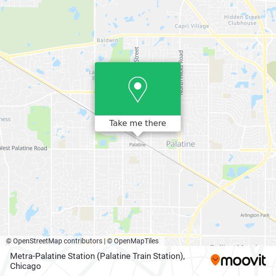 Metra-Palatine Station (Palatine Train Station) map