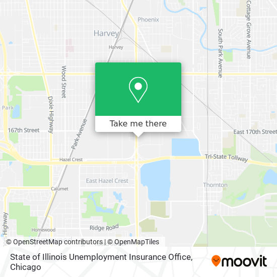 State of Illinois Unemployment Insurance Office map