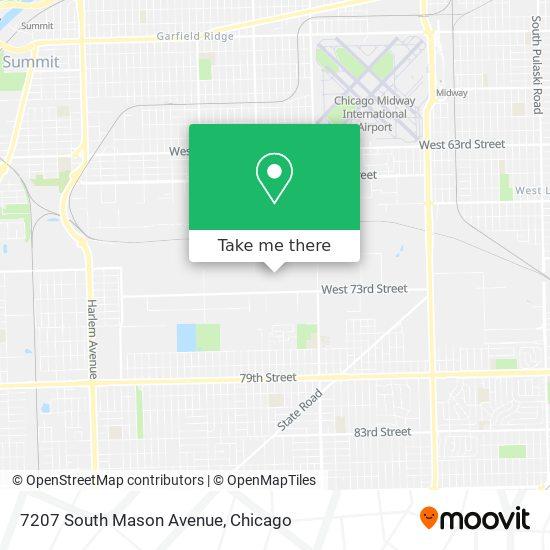 7207 South Mason Avenue map
