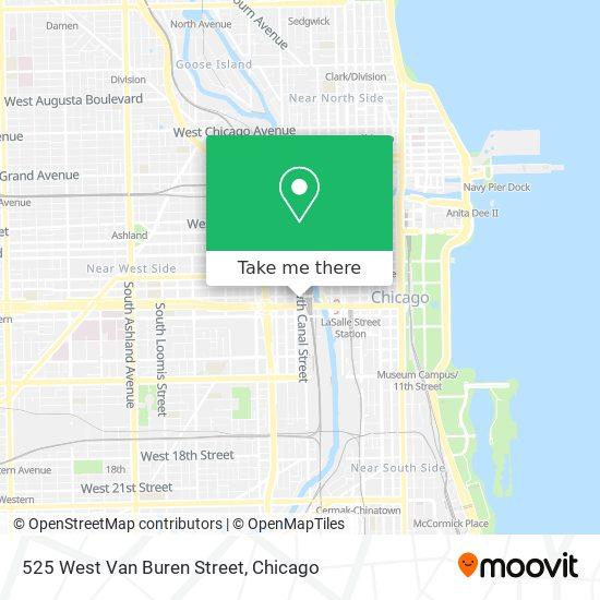525 West Van Buren Street map