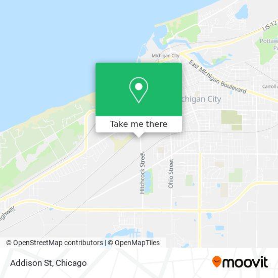 Addison St map
