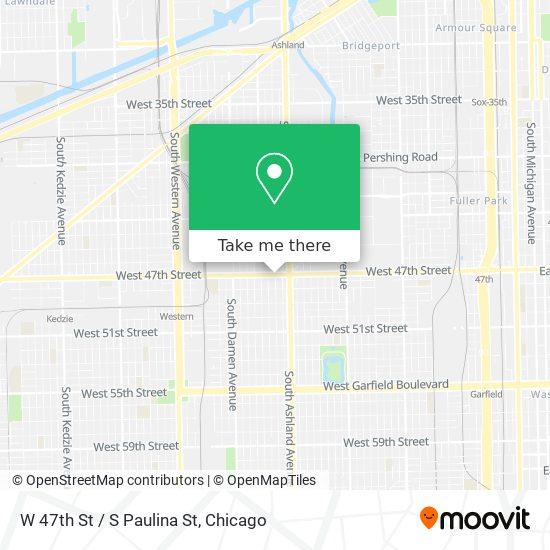 W 47th St / S Paulina St map
