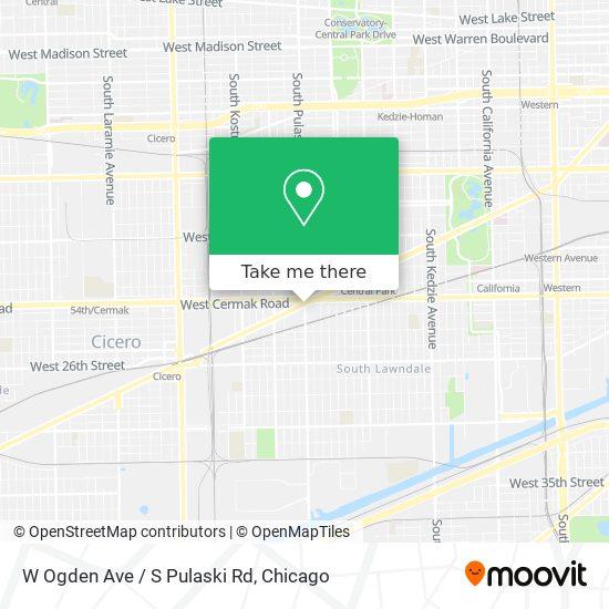W Ogden Ave / S Pulaski Rd map