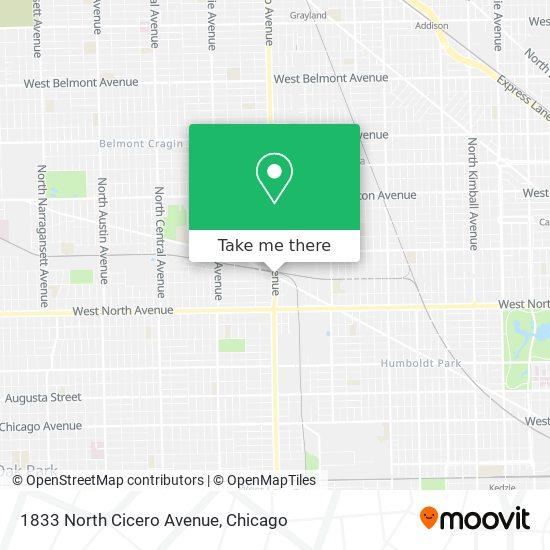 1833 North Cicero Avenue map