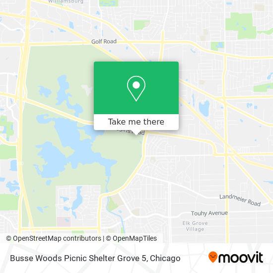 Busse Woods Picnic Shelter Grove 5地图