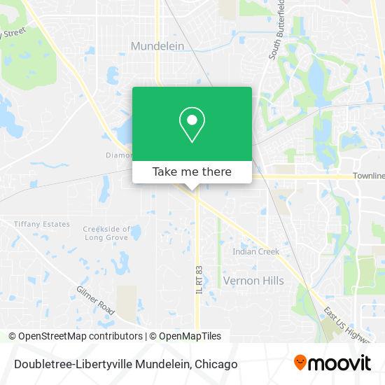Doubletree-Libertyville Mundelein map