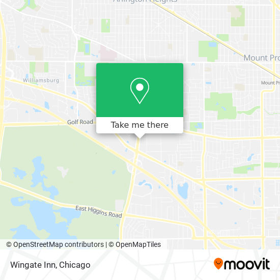 Mapa de Wingate Inn