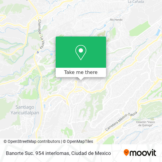 Banorte Suc. 954 interlomas map