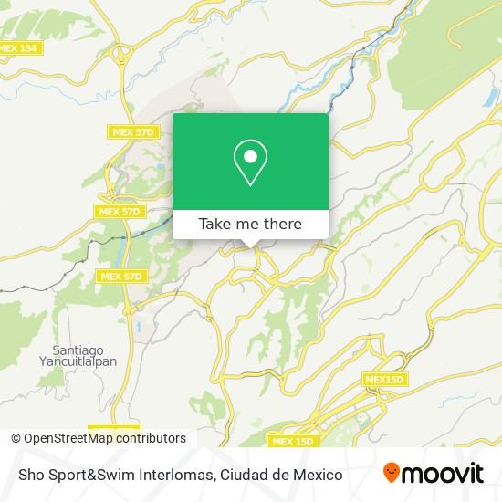 Sho Sport&Swim Interlomas map