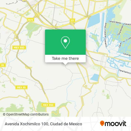 Avenida Xochimilco 100 plan