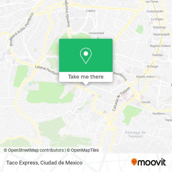 Taco Express map