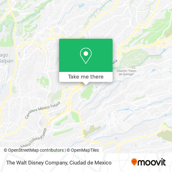 The Walt Disney Company map