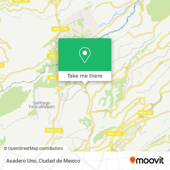 Asadero Uno map