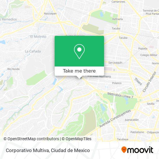 Corporativo Multiva map