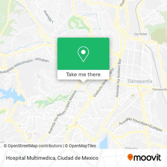 Hospital Multimedica map