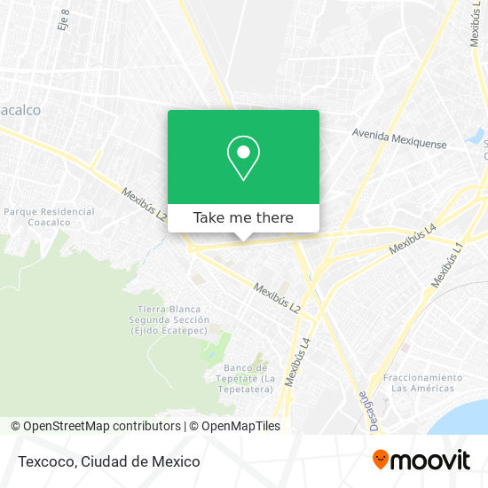 Texcoco map