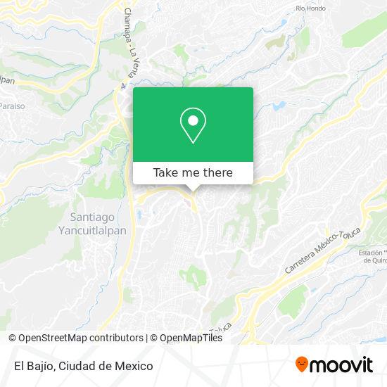 El Bajío map