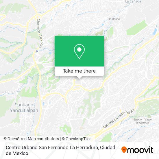 Centro Urbano San Fernando La Herradura map