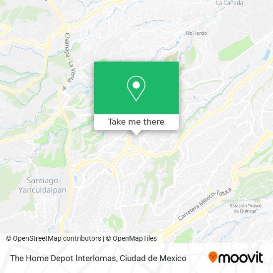 The Home Depot Interlomas map