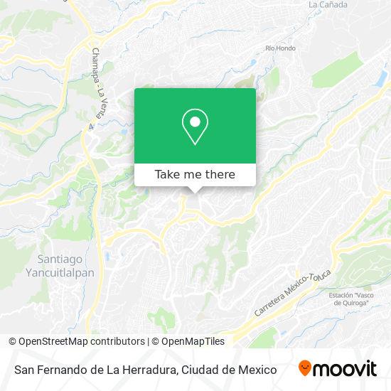 San Fernando de La Herradura map