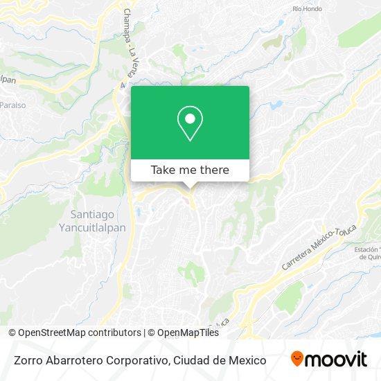 Zorro Abarrotero Corporativo map
