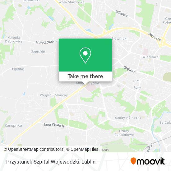 Przystanek Szpital Wojewódzki map