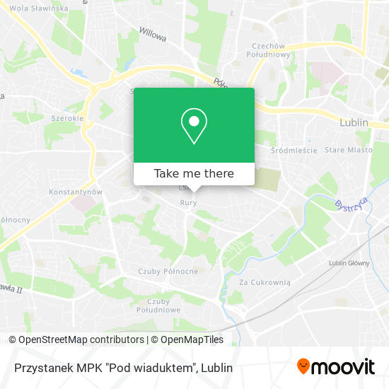 "Przystanek MPK ""Pod wiaduktem"" Karte"