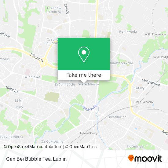 Gan Bei Bubble Tea map