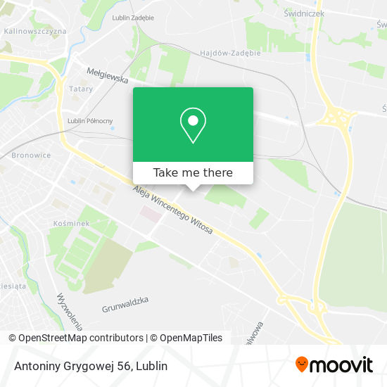 Antoniny Grygowej 56 map