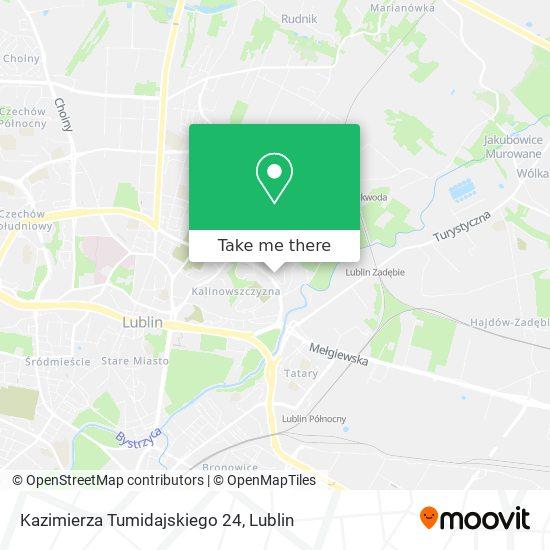 Kazimierza Tumidajskiego 24 map