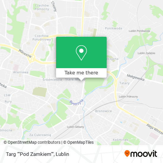 "Карта Targ """"Pod Zamkiem"""""