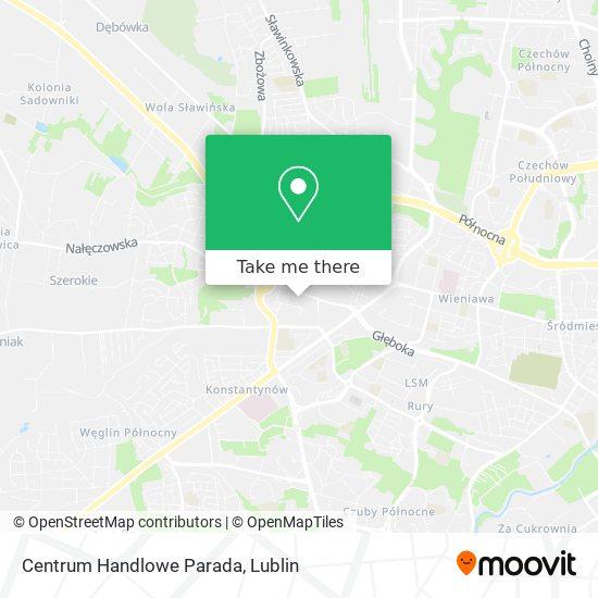 Карта Centrum Handlowe Parada